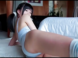 softcore asian leotard swimsuit shower tease