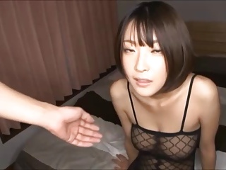 fishnet girl has a fun evening