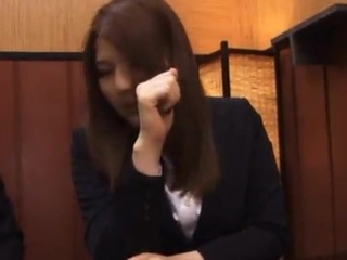 Momoka Nishina Has Meal beside Colleagues, And has the Faceful Of orgasm