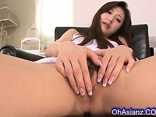 sexy supple asian babe with her vibrator