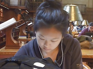 Candid Asian Sexy Feet In Lbrary