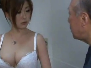 Alluring Chinese chick licks Some mature Man's wiener inside A Bathroom