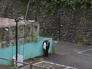 Japanese pair Caught onto webcam While screwing Outdoors.