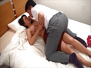 Amazing hot japanese mom and young boy