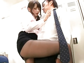 Japanese office lady in pantyhose