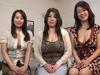 3 Asian MILFs Having crazy CFNM fucking surrounding 1 fellow