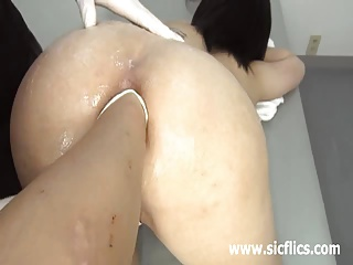 Extreme slut fisted in her huge gaping ass