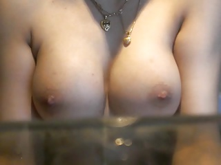 Paki ex girlfriend showing off her new boobs