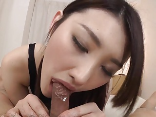 Azumi Mizushima blowjob and hardcore with cumshot
